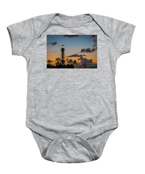 Lighthouse At Dawn #1 Baby Onesie