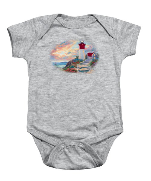 Lighthouse At Sunset Baby Onesie