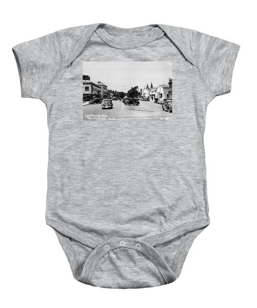 Lighthouse Avenue Downtown Pacific Grove, Calif. 1935  Baby Onesie