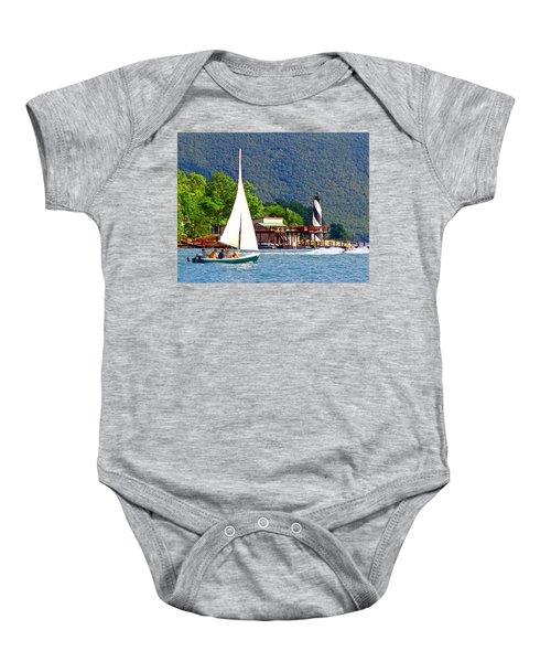 Lighthouse Sailors Smith Mountain Lake Baby Onesie