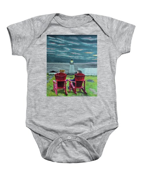 Lighthouse Lovers Baby Onesie