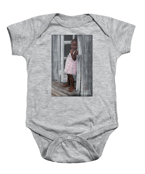 Lil' Girl In Pink Baby Onesie
