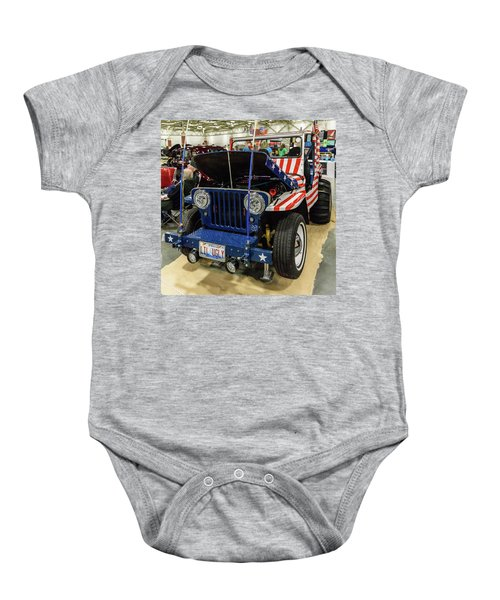 Baby Onesie featuring the photograph Lil Ugly by Randy Scherkenbach