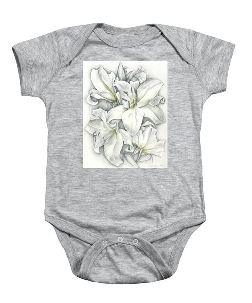 Lilies Pencil Baby Onesie