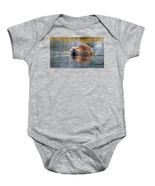 Lily Lake Beaver Baby Onesie