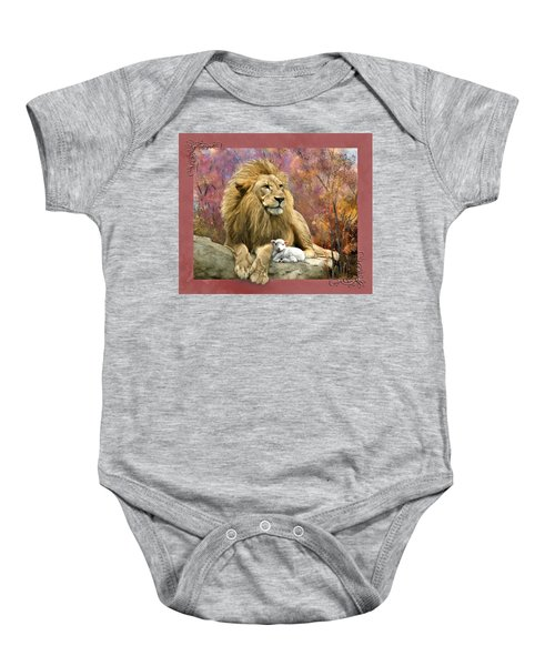 Lion And The Lamb Baby Onesie
