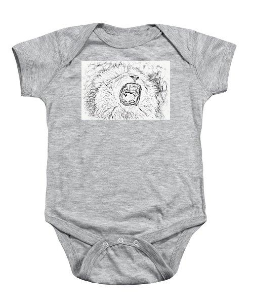 Lion Roar Drawing Baby Onesie