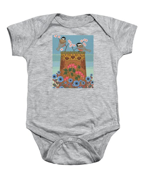 Baby Onesie featuring the painting Little Bird by Chholing Taha