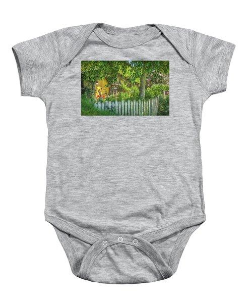 Little Picket Fence Baby Onesie