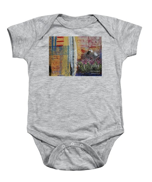 Little Pink Houses Baby Onesie