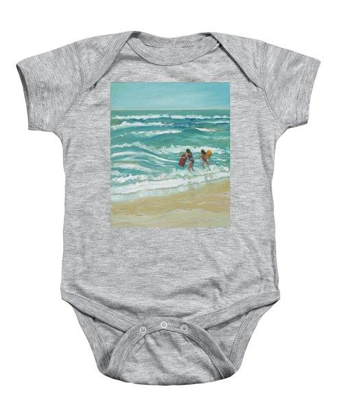 Little Surfers Baby Onesie