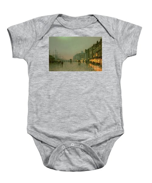 Liverpool Docks From Wapping Baby Onesie