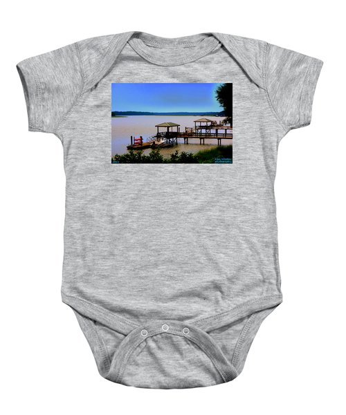 Living In The Lowcountry Baby Onesie