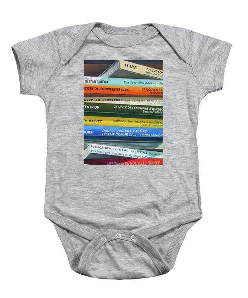 Livres ... Baby Onesie