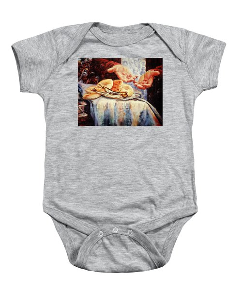 Loaves And Fishes 2 Baby Onesie
