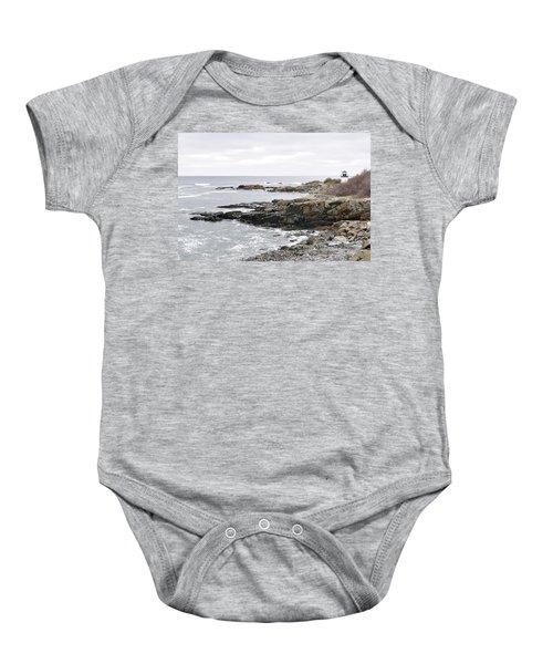 Lobster Point Lighthouse - Ogunquit Maine Baby Onesie