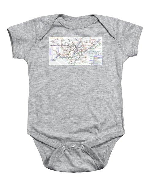 London Underground Map Baby Onesie