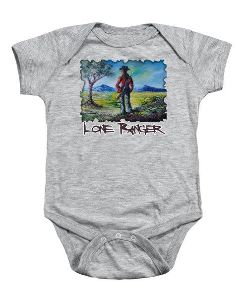 Lone Ranger On Foot Baby Onesie