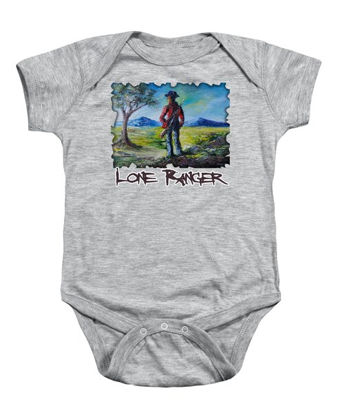 Lone Ranger On Foot Baby Onesie