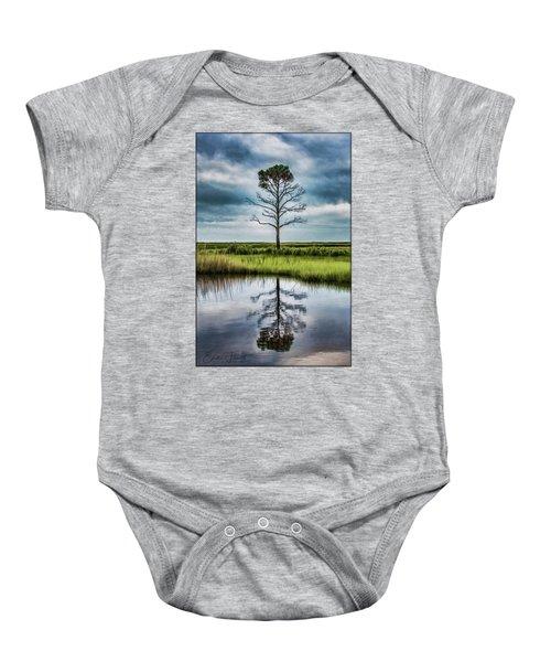 Lone Tree Reflected Baby Onesie