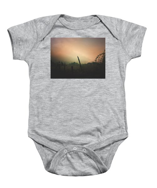 Lonely Fence Post  Baby Onesie