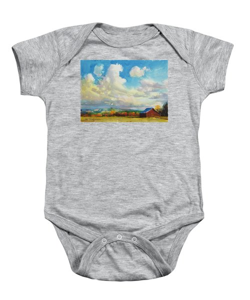 Lonesome Barn Baby Onesie
