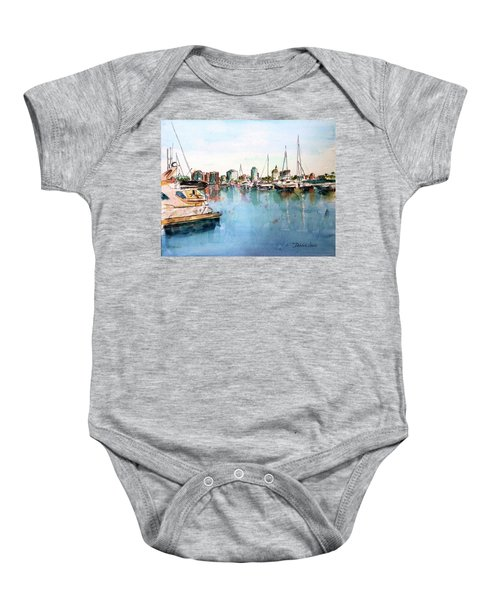 Long Beach Coastal View Baby Onesie