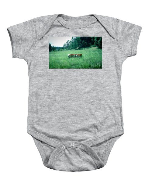 Baby Onesie featuring the photograph Looking Back by Peter Simmons
