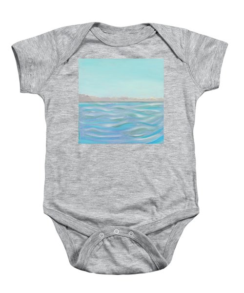 Looking South Tryptic Part 1 Baby Onesie