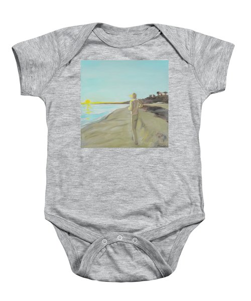 Looking South Tryptic Part 3 Baby Onesie