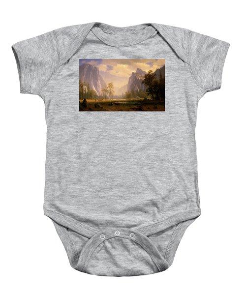 Looking Up The Yosemite Valley  Baby Onesie