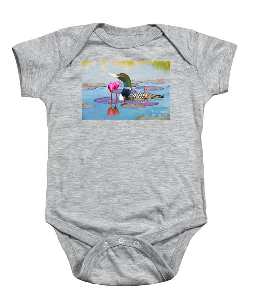 Loon And Lotus Baby Onesie