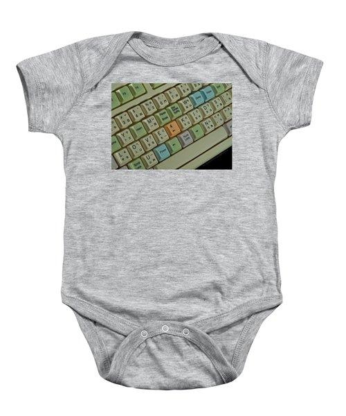 Love Puzzle Keyboard Baby Onesie
