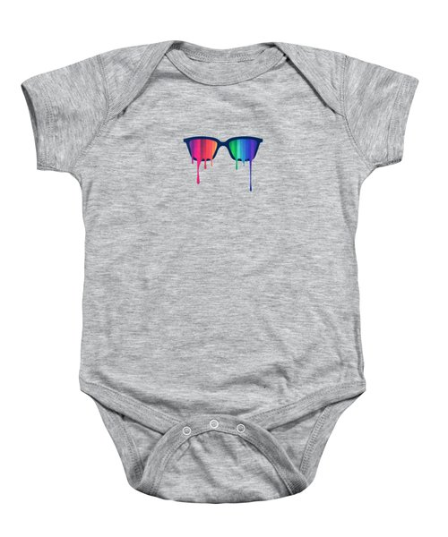 Love Wins Rainbow - Spectrum Pride Hipster Nerd Glasses Baby Onesie