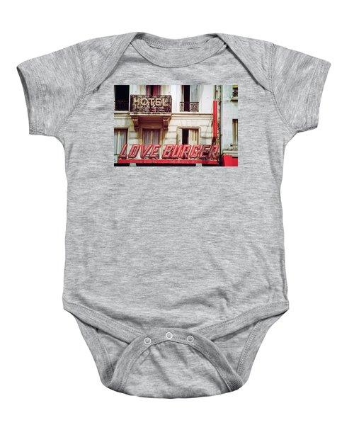 Loveburger Hotel Baby Onesie