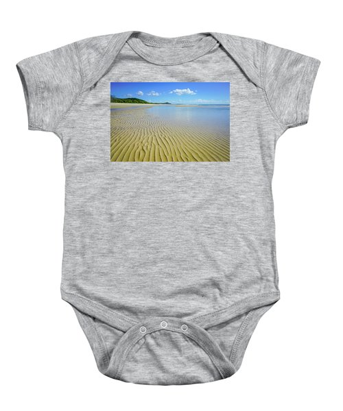 Low Tide Beach Ripples Baby Onesie