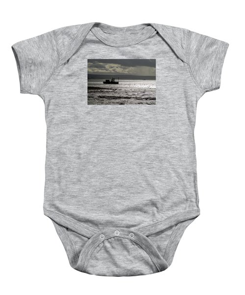 Baby Onesie featuring the photograph Low Tide In Isle Of Skye by Dubi Roman