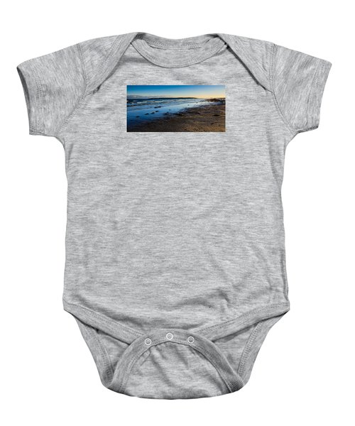 Low Tide In Winter Baby Onesie