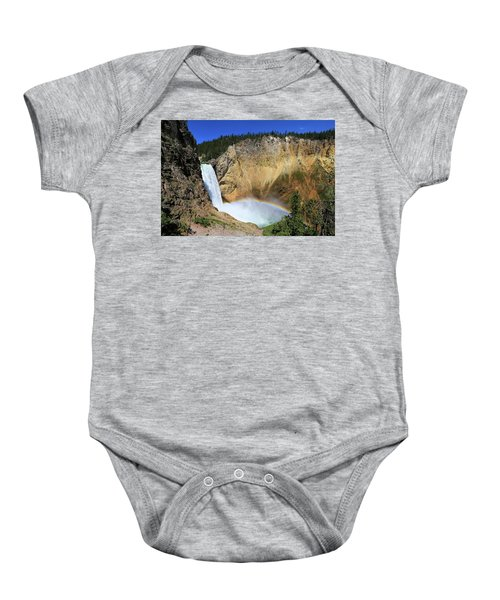 Lower Falls With A Rainbow Baby Onesie