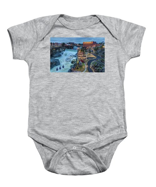 Lower Spokane Falls Early Spring Baby Onesie