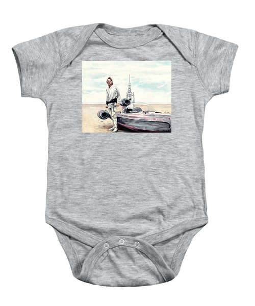 Luke Skywalker On Tatooine Star Wars A New Hope Baby Onesie