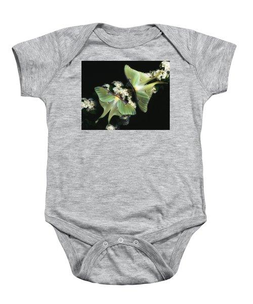 Luna Moths Baby Onesie