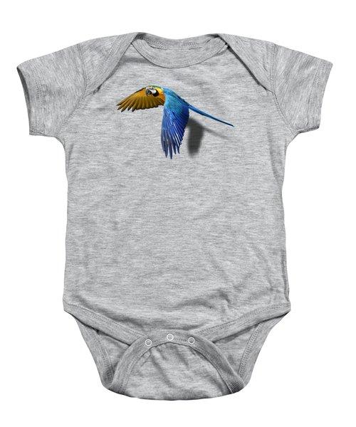 Macaw No 01 Baby Onesie