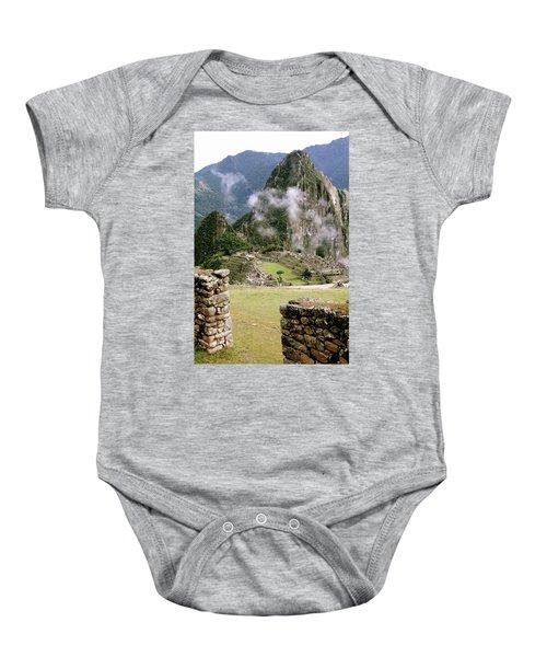 Machu Picchu In The Morning Light Baby Onesie