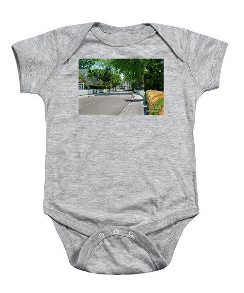 Mackinac Island Street Baby Onesie