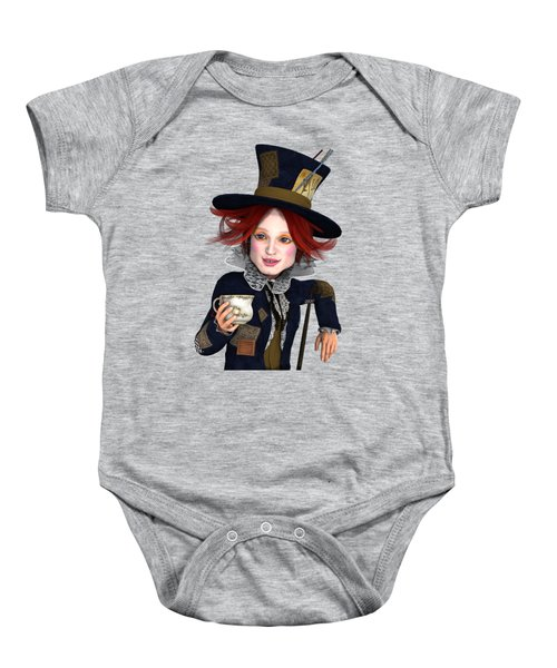 Mad Hatter Portrait Baby Onesie by Methune Hively