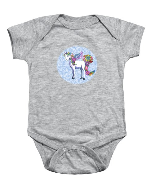 Madeline The Magic Unicorn 2 Baby Onesie by Shelley Wallace Ylst