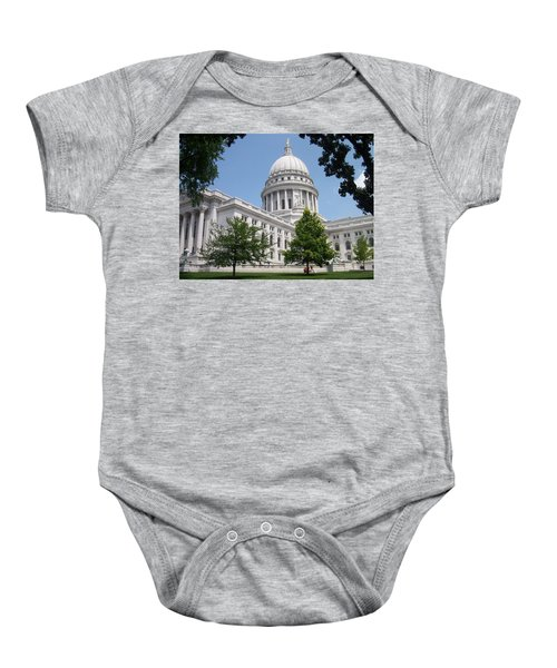 Madison Wi State Capitol Baby Onesie