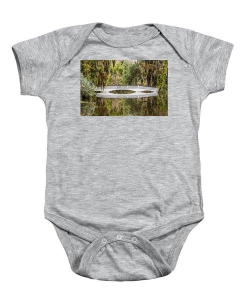 Magnolia Plantation Gardens Bridge Baby Onesie