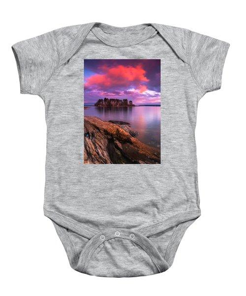Maine Pound Of Tea Island Sunset At Freeport Baby Onesie